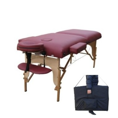 burgandy portable massage1case